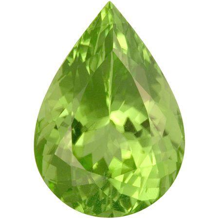 Loose Peridot Gemstone in Pear Cut, 22.92 carats, 22.01 x 15.37 mm Displays Pure Green Color