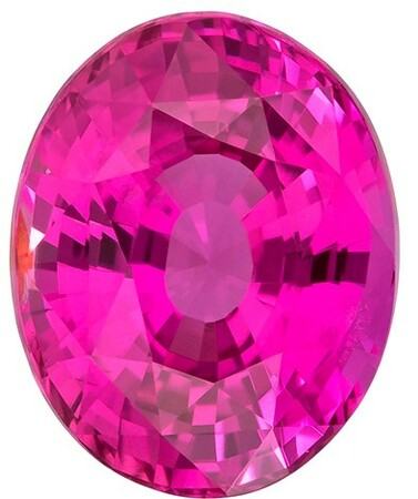 Very Fine Hot Pink Sapphire Gemstone, Oval Cut, 3.48 carats, 9.65 x 7.78 x 5.54 mm , GIA Certified - A Magnificent Gem