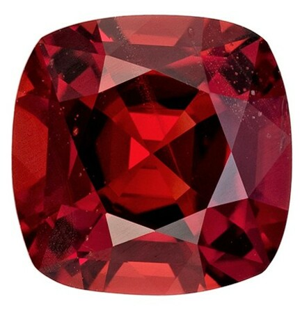 Loose Red Spinel Gemstone, Cushion Cut, 1.35 carats, 6.5 mm , AfricaGems Certified - A Great Deal