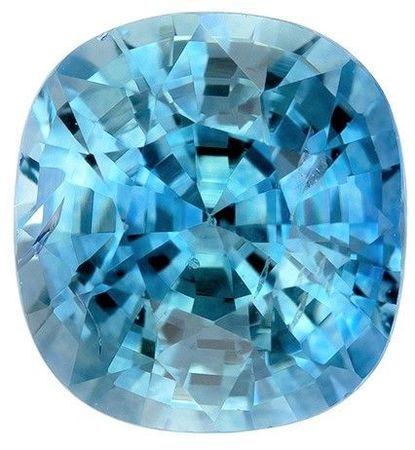 Loose Stone Blue Green Sapphire Cushion Shaped Gemstone, 1.15 carats, 6 x 5.5mm - A Wonderful Find!