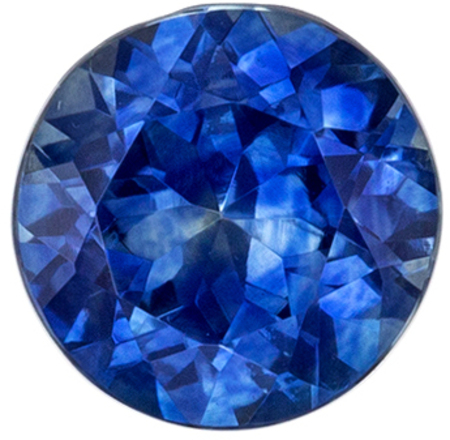 Lovely Blue Green Sapphire Genuine Gem, Vivid Tealish Blue, Round Cut, 5.4 mm, 0.77 carats