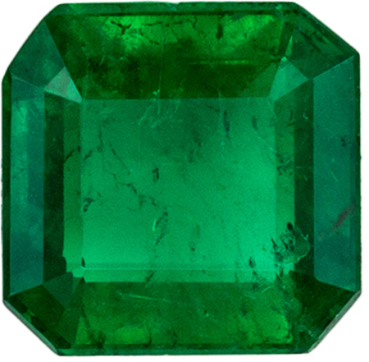 Lovely Emerald Loose Gem in Emerald Cut, 0.56 carats, Rich Green, 5 mm