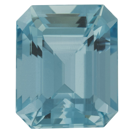 Finest Color Aquamarine Gemstone in Octagon Cut, 10.77 carats, 14.28 x 12.42 mm