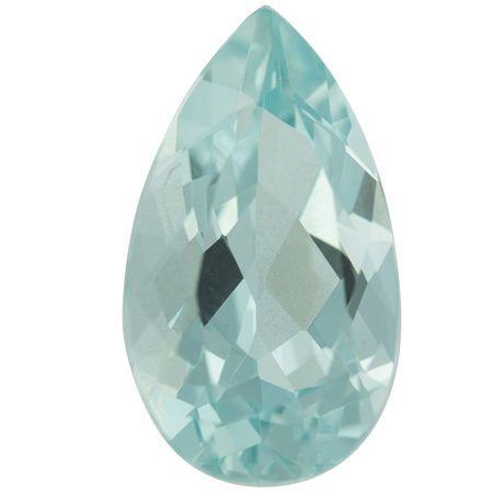 Low Price Aquamarine Gemstone in Pear Cut, 7.48 carats, 18.22 x 10.35 mm