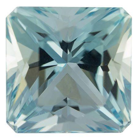 Low Price Aquamarine Gemstone in Radiant Cut, 23.39 carats, 17.25  mm