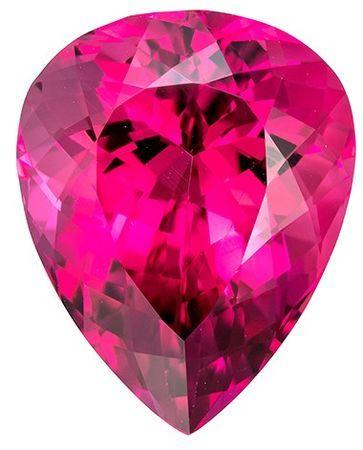 Low Price on Top Gem  Red Tourmaline Genuine Gemstone, 12.8 carats, Pear Shape, 17.3 x 13.7 mm