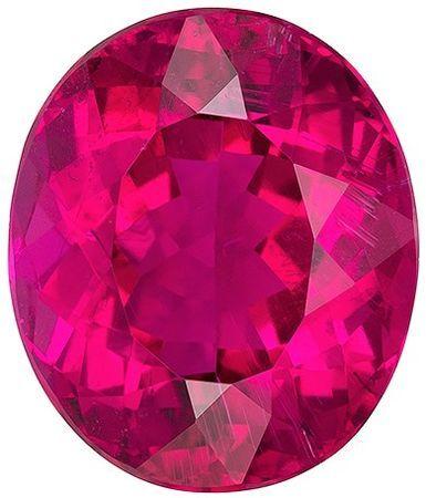 Super Great Buy  Rubellite Tourmaline Genuine Gemstone, 8.76 carats, Oval Shape, 14 x 11.9 mm
