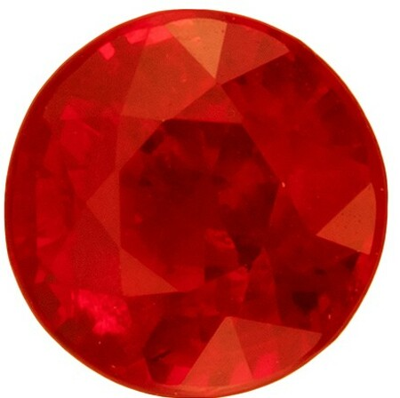 A Beauty of A Gem  Round Cut Gorgeous Ruby Gemstone, 0.49 carats, 4.3 mm , Such Color