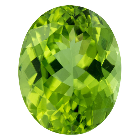 Low Price Peridot Gemstone in Oval Cut, 10.01 carats, 14.79 x 10.83 mm Displays Rich Green Color