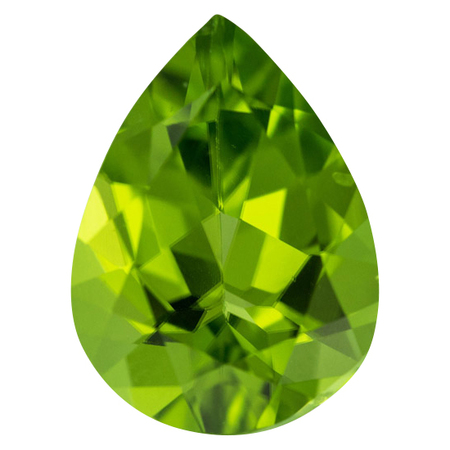 Low Price Peridot Gemstone in Pear Cut, 6.03 carats, 13 x 8.60 mm Displays Vivid Green Color
