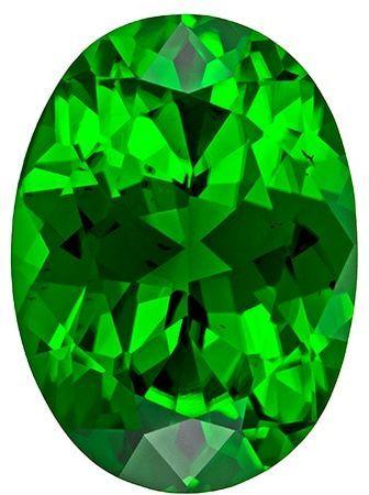 Low Price on Top Gem Chrome Tourmaline Genuine Gemstone, 0.96 carats, Oval Shape, 7.5 x 5.5 mm
