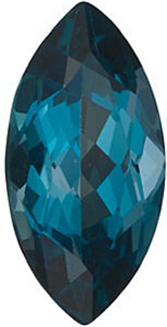 Marquise Cut London Blue Topaz in Grade AAA