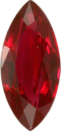 Marquise Gem Ruby Gemstone, Unusual Shape for 2.00 carat Size, GRS Certificate, 11.9 x 5.5 mm