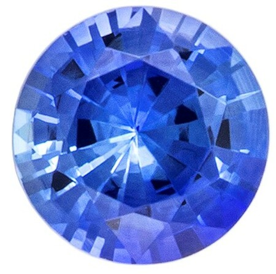 Must See  Blue Sapphire Gemstone, 0.29 carats, Round Shape, 4 mm, Super Fine Gem!