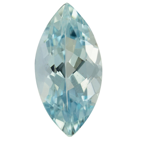 Natural Aquamarine Gemstone in Marquise Cut, 4.31 carats, 16.38 x 8.39 mm , Rare No Heat Aqua