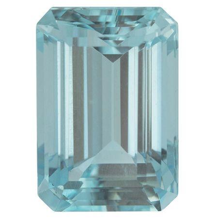 Natural Aquamarine Gemstone in Octagon Cut, 7.01 carats, 13.64 x 9.44 mm