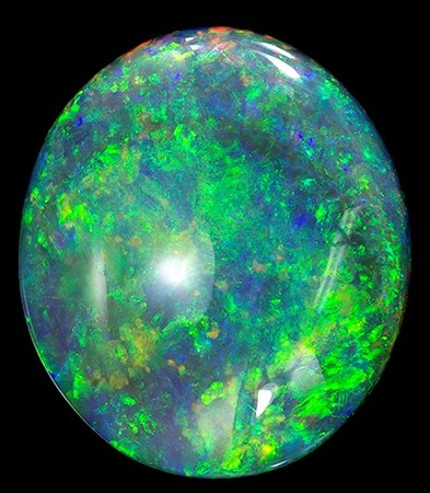 Natural Black Opal Gemstone, Oval Cut, 4.57 carats, 13.1 x 11.4 mm , AfricaGems Certified - A Great Buy