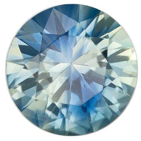 Natural Blue Green Sapphire Gemstone, Round Cut, 0.7 carats, 5.4 mm , AfricaGems Certified - A Beauty of A Gem