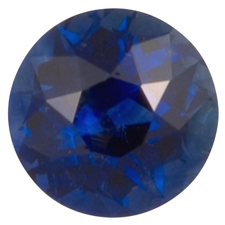 Natural Blue Sapphire Gemstone in Round Cut, 1.14 carats, 6.08 x 6.07 x 4.18mm, Pure Blue Color