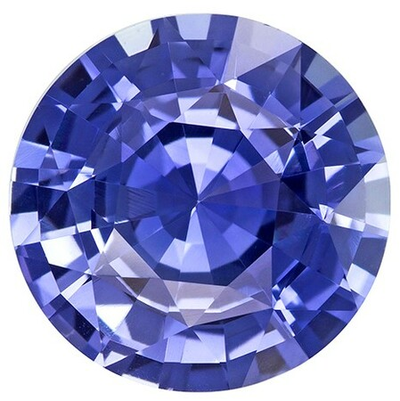 Natural Blue Sapphire Gemstone, Round Cut, 4.96 carats, 10.9 mm , AfricaGems Certified - A Fine Gem
