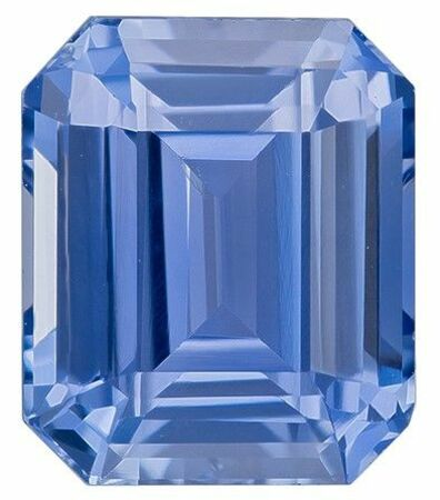 Natural Gem Blue Sapphire Emerald Shaped Gem with GIA Cert, 2.61 carats, 8.12 x 6.83 x 4.54 mm - Low Price