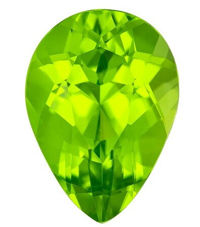 Natural Gem Peridot Pear Shaped Gemstone, 3.2 carats, 11.2 x 8mm - A Beauty of A Gem