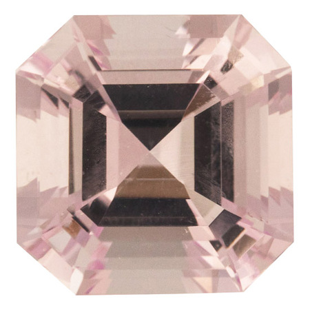 Natural Morganite Gemstone in Asscher Cut, 6.88 carats, 12.0 mm Displays Rich Pink Color