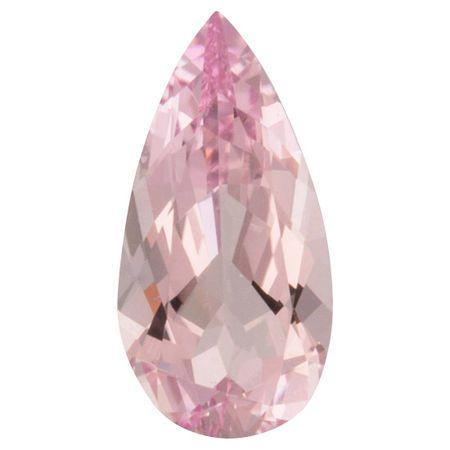Natural Morganite Gemstone in Pear Cut, 3 carats, 14.06 x 7.30 mm Displays Rich Pink Color
