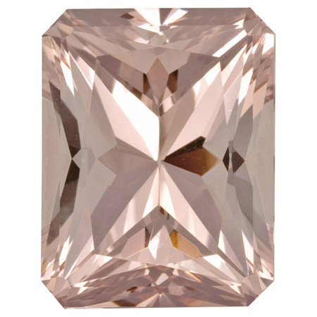 Deal on Morganite Gemstone in Radiant Cut, 18.06 carats, 17.94 x 13.97 mm Displays Rich Pink Color