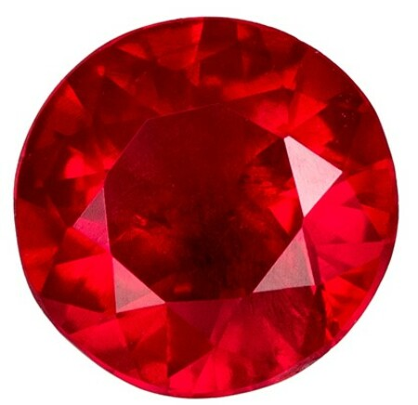 Natural Fiery Ruby Gemstone, Round Cut, 0.24 carats, 3.9 mm , AfricaGems Certified - A Deal Gem