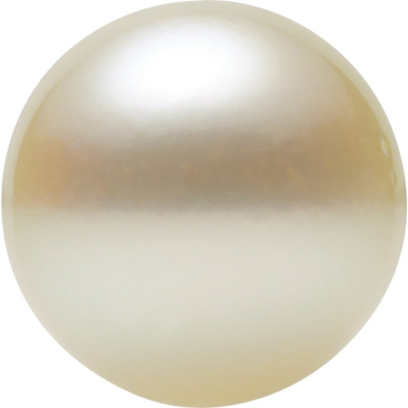 Natural White Akoya Pearls in Half Drilled AA Grade