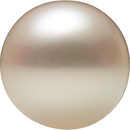 Natural White Akoya Pearls in Half Drilled AAA Grade