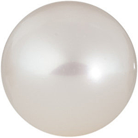 Near Round Half Drilled Genuine White Freshwater Pearls in Grade AAA