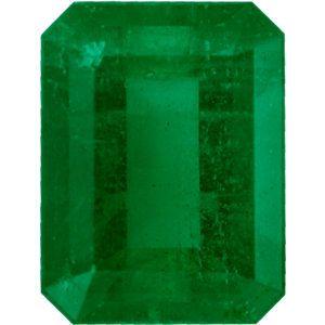 Nice Looking Emerald Loose Gem in Emerald Cut, Vibrant Blue Green, 8.04 x 6.12  mm, 1.52 Carats