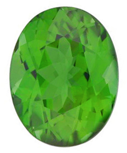 Oval Cut Genuine Green Tourmaline in Grade AAA