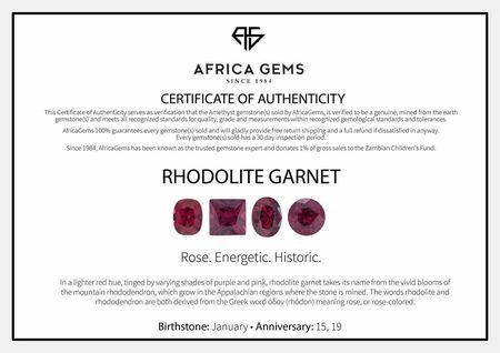 Cabochon Oval Genuine Rhodolite Garnet in Grade AAA