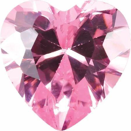 Pink Cubic Zirconia Heart Cut Stones