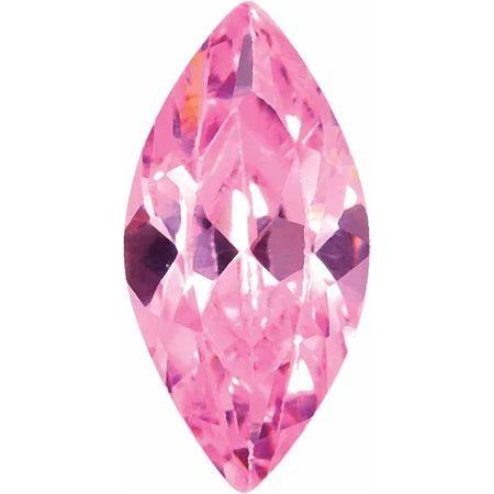 Pink Cubic Zirconia Marquise Cut Stones