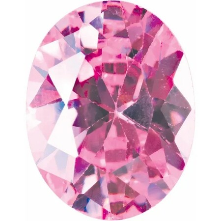 Pink Cubic Zirconia Oval Cut Stones