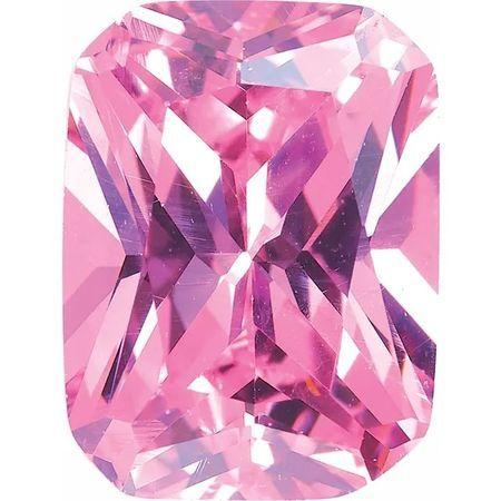 Pink Cubic Zirconia Radiant Cut Stones