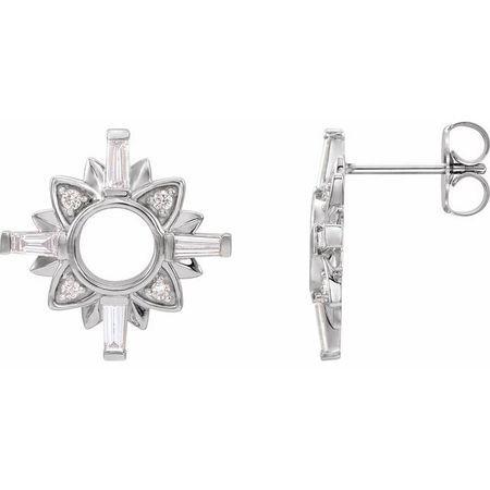 Natural Diamond Earrings in Platinum 1/2 Carat Diamond Celestial-Inspired Drop Earrings