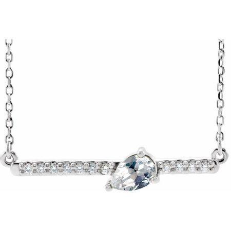 Real Diamond Necklace in Platinum 1/3 Carat Diamond 18