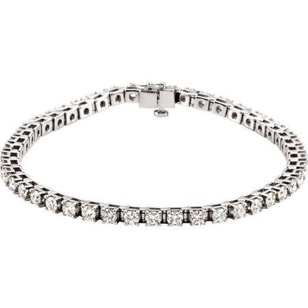 Jewelry Find Platinum 4 0.50 Carat TW Diamond Line Bracelet