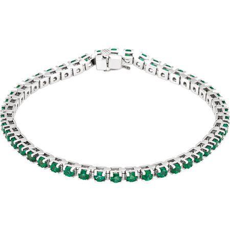 Platinum Emerald Line Bracelet