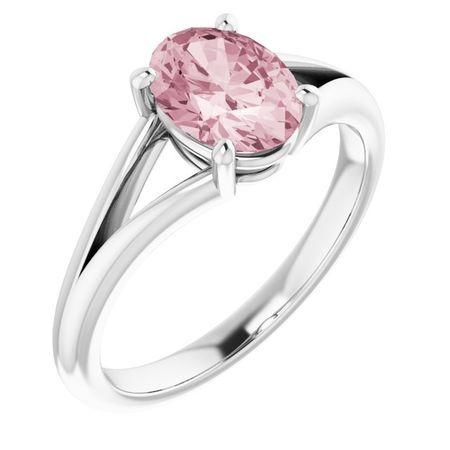 Pink Morganite Ring in Platinum Morganite Ring
