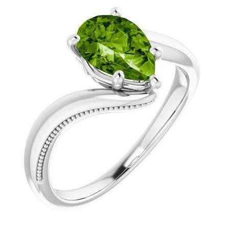Peridot Ring in Platinum Peridot Ring