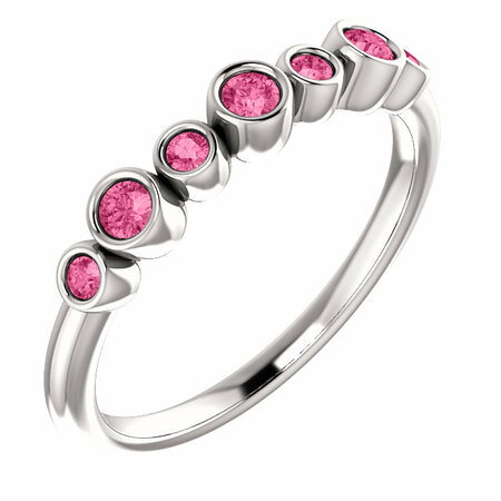 Buy Platinum Pink Tourmaline Bezel-Set Ring