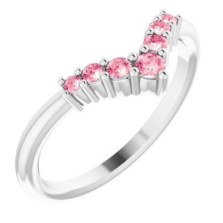 Pink Tourmaline Ring in Platinum Pink Tourmaline Graduated