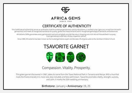 Round Cut Genuine Tsavorite Garnet in Grade AAA