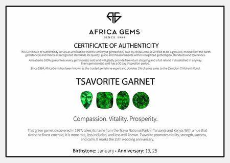 Princess Cut Genuine Tsavorite Garnet in Grade AAA